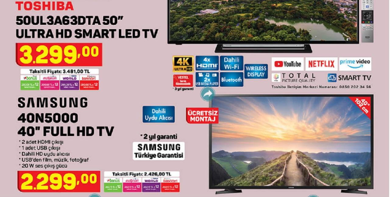 A 101 29 Ekim 2020 katolog ürünü Samsung UE-40N5000 Full HD Uydu Alıcılı LED Televizyon piyasa fiyatı karşılaştırması