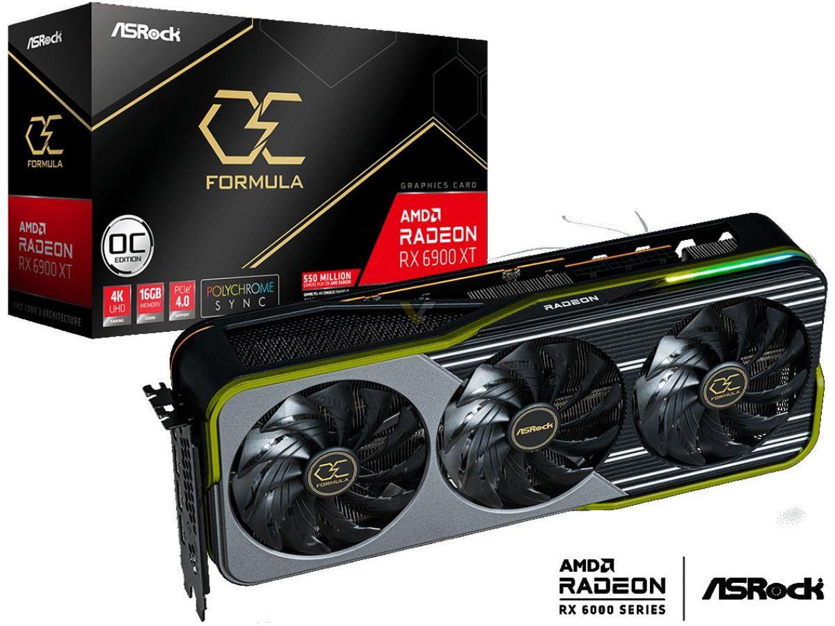 ASRock, Radeon RX 6900 XT OC Formula 16 GB Grafik Kartlarını Piyasaya Sürüyor